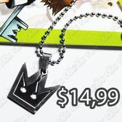 Collar Videojuegos Kingdom Hearts Corona Ecuador Comprar Venden, Bonita Apariencia de corona, practica, Hermoso material de bronce niquelado Color negro Estado nuevo