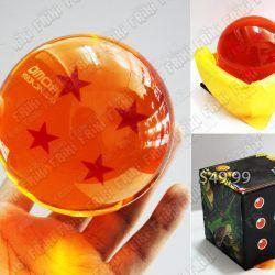 Replica Anime Dragon Ball Esfera de cuatro estrellas Comprar Venden, Bonita Apariencia perfecta para coleccionistas y fans del libro, practica, Hermoso material de cristal Color anaranjado Estado nuevo