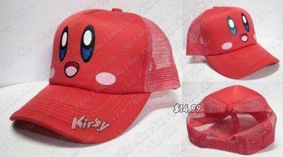 Gorra Videojuegos Kirby Kirby Ecuador Comprar Venden, Bonita Apariencia de la carita de Kirby, practica, Hermoso material de algodón Color rojo Estado nuevo