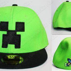 Gorra Videojuegos Minecraft Creeper Ecuador Comprar Venden, Bonita Apariencia de la cara de un creeper, practica, Hermoso material de algodón Color verde Estado nuevo