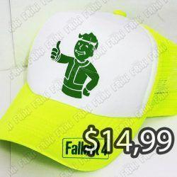 Gorra Videojuegos FallOut Vault Boy Ecuador Comprar Venden, Bonita Apariencia ideal para los fans, practica, Hermoso material de algodón Color blanco con amarillo Estado nuevo