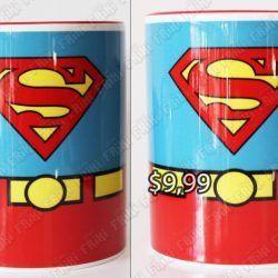 Jarro Cómics Superman Ecuador Comprar Venden, Bonita Apariencia perfecto para los fans de la serie, practica, Hermoso material de cerámica Color azul y rojo Estado nuevo