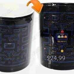 Jarro mágico Videojuegos Pacman Arcade Ecuador Comprar Venden, Bonita Apariencia ideal para los fans, practica, Hermoso material de cerámica Color negro Estado nuevo