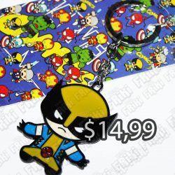 Llavero Comics X-Men Wolverine Ecuador Comprar Venden, Bonita Apariencia perfecto para decorar tus pertenencias, practica, Hermoso material de bronce niquelado Color negro, amarillo y azul Estado nuevo