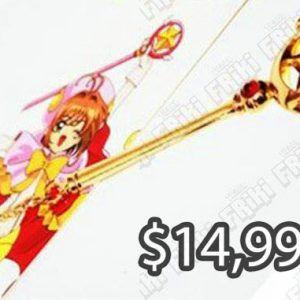 Llavero Anime Sakura Card Captor Báculo Ecuador Comprar Venden, Bonita Apariencia perfecto para decorar tus pertenencias, practica, Hermoso material de plástico Color dorado Estado nuevo