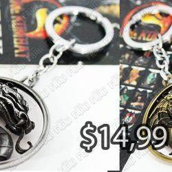 Llavero Videojuegos Mortal Kombat Logo Ecuador Comprar Venden, Bonita Apariencia ideal para los fans, practica, Hermoso material de bronce niquelado Color dorado Estado nuevo