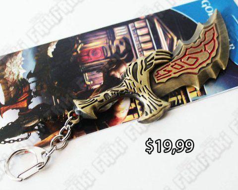 Llavero Videojuegos God of War Arma Ecuador Comprar Venden, Bonita Apariencia de arma, practica, Hermoso material de bronce niquelado Color oro Estado nuevo