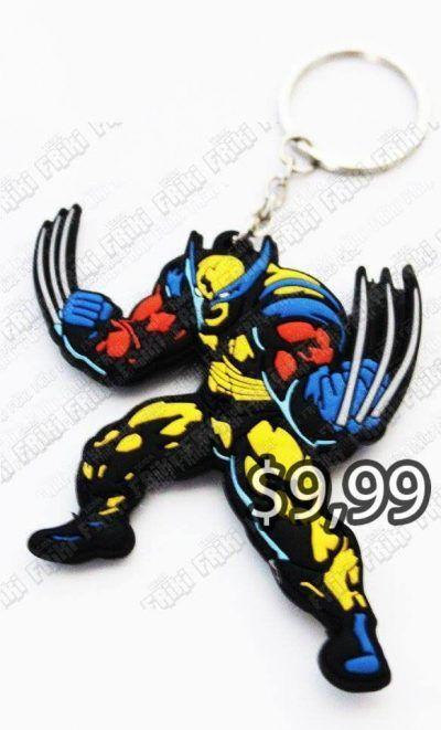 Llavero Comics X-Men Wolverine Ecuador Comprar Venden, Bonita Apariencia perfecto para decorar tus pertenencias, practica, Hermoso material de goma Color negro, amarillo y azul Estado nuevo