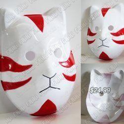 Máscara Anime Naruto Kakashi Ambu Ecuador Comprar Venden, Bonita Apariencia perfecta para los fans de Naruto, practica, Hermoso material plástico Color blanco Estado nuevo