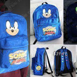 Mochila Videojuegos Sonic Sonic Ecuador Comprar Venden, Bonita Apariencia ideal para los fans, practica, Hermoso material de polipropileno Color azul Estado nuevo