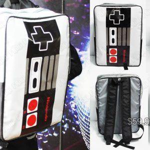 Mochila Videojuegos Consola NES Mando Ecuador Comprar Venden, Bonita Apariencia de mando de NES, practica, Hermoso material de polipropileno Color blanco y negro Estado nuevo