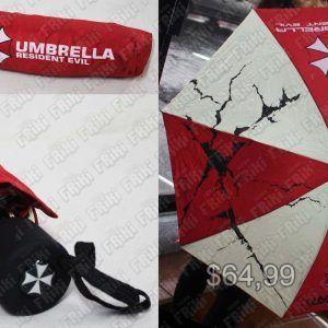 Paraguas Videojuegos Resident Evil Umbrella Ecuador Comprar Venden, Bonita Apariencia, útil para salir, practica, Hermoso material tela impermeable Color blanco y rojo Estado nuevo