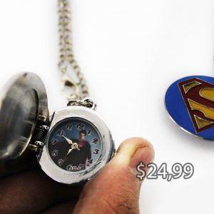Reloj de collar Cómics Superman Ecuador Comprar Venden, Bonita Apariencia perfecto para fans de la serie, practica, Hermoso material de acero inoxidable Color azul Estado nuevo