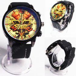 Reloj de pulsera Videojuegos Street Fighter Logo Ecuador Comprar Venden, Bonita Apariencia ideal para los fans, practica, Hermoso material de acero inoxidable Color negro Estado nuevo