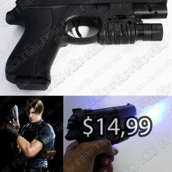Réplica Videojuegos Resident Evil Pistola Ecuador Comprar Venden, Bonita Apariencia ideal para los fans, practica, Hermoso material de bronce niquelado Color negro Estado nuevo