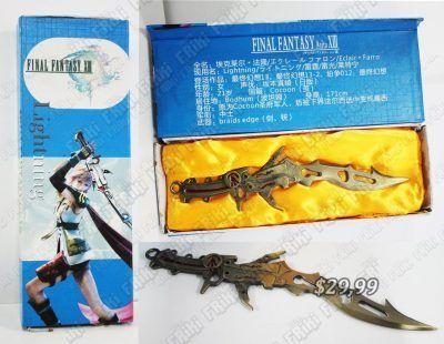 Réplica Videojuegos Final Fantasy Litghtning Ecuador Comprar Venden, Bonita Apariencia ideal para los fans, practica, Hermoso material de bronce niquelado Color bronce Estado nuevo