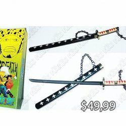 Replica Anime One Piece Katana Comprar Venden, Bonita Apariencia perfecta para coleccionistas y fans del libro, practica, Hermoso material de plástico Color negro Estado nuevo