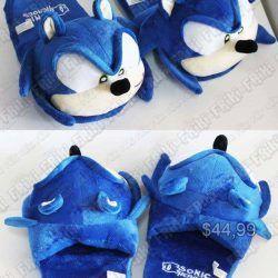 Pantuflas Videojuego Sonic Sonic Ecuador Comprar Venden, Bonita Apariencia de Sonic, practica, Hermoso material de poliéster Color azul Estado nuevo