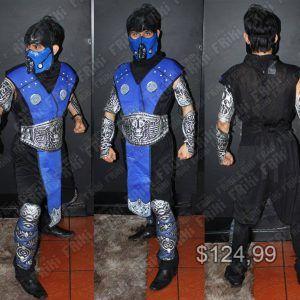 Disfraz Videojuegos Mortal Kombat Sub Zero Ecuador Comprar Venden, Bonita Apariencia del traje de Sub Zero, practica, Hermoso material de poliéster Color azul y negro Estado nuevo