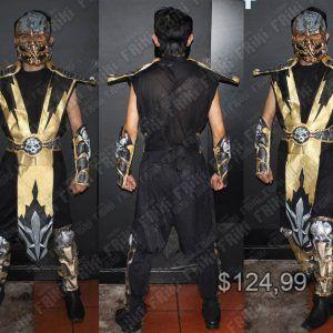 Disfraz Videojuegos Mortal Kombat Scorpion Ecuador Comprar Venden, Bonita Apariencia del traje de Scorpion, practica, Hermoso material de poliéster Color amarillo y negro Estado nuevo