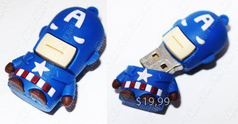 USB Cómics Capitán América Ecuador Comprar Venden, Bonita Apariencia perfecta para los fans, practica, Hermoso material plástico Color como en la imagen Estado nuevo