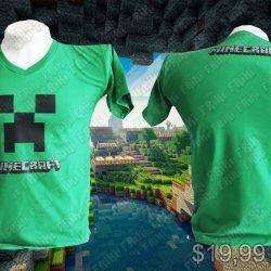 Camiseta Videojuegos Minecraft Creeper Ecuador Comprar Venden, Bonita Apariencia de creeper, practica, Hermoso material de poliéster Color verde Estado nuevo