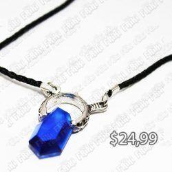 Collar Videojuegos Devil May Cry Piedra Azul Ecuador Comprar Venden, Bonita Apariencia de gema, practica, Hermoso material de bronce niquelado Color azul Estado nuevo