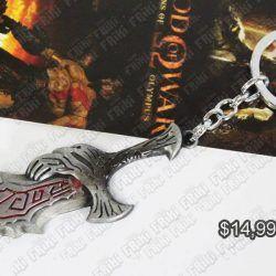 Llavero Videojuegos God of War Arma Ecuador Comprar Venden, Bonita Apariencia de arma, practica, Hermoso material de bronce niquelado Color plateado Estado nuevo