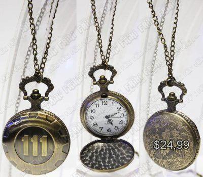 Reloj de Collar Videojuegos FallOut 111 Ecuador Comprar Venden, Bonita Apariencia ideal para los fans, practica, Hermoso material de bronce niquelado Color dorado Estado nuevo