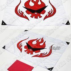 Banderín Anime Tengen Tuoppa Gurren Lagann Kamina Bonita Apariencia, practico, Hermoso material Poliester, Color blanco y rojo Estado Nuevo