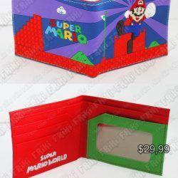 Billetera Videojuegos Super Mario Bros. World 1 Ecuador Comprar Venden, Bonita Apariencia perfecta para los fans, practica, Hermoso material de cuerina Color como en la foto Estado nuevo