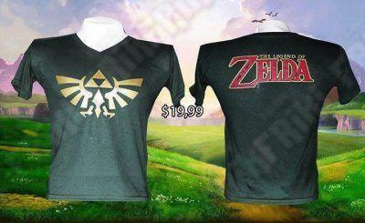 Camiseta Videojuegos The Legend of Zelda Logo Ecuador Comprar Venden, Bonita Apariencia de enderman, practica, Hermoso material de poliéster Color verde Estado nuevo