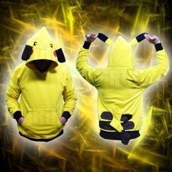 Chaqueta Videojuegos Pokémon Pikachu Ecuador Comprar Venden, Bonita Apariencia ideal para los fans, practica, Hermoso material de poliéster Color amarillo Estado nuevo
