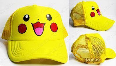 Gorra Videojuegos Pokémon Pikachu Ecuador Comprar Venden, Bonita Apariencia ideal para los fans, practica, Hermoso material de algodón y buckram Color amarillo Estado nuevo