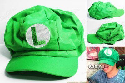 Gorra Videojuegos Super Mario Bros. Luigi Ecuador Comprar Venden, Bonita Apariencia ideal para los fans, practica, Hermoso material de algodón y buckram Color como en la imagen Estado nuevo