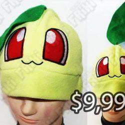 Gorro Videojuegos Pokémon Chikorita Ecuador Comprar Venden, Bonita Apariencia ideal para los fans, practica, Hermoso material de lana Color verde Estado nuevo