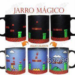 Jarro mágico Videojuegos Super Mario Bros, World 1 Ecuador Comprar Venden, Bonita Apariencia ideal para los fans, practica, Hermoso material de cerámica Color negro Estado nuevo