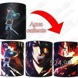 Jarro mágico Anime Shingeki no Kyojin Titán Ecuador Comprar Venden, Bonita Apariencia ideal para los fans, practica, Hermoso material de cerámica Color negro Estado nuevo