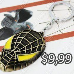 Llavero Cómics Spiderman Ecuador Comprar Venden, Bonita Apariencia perfecto para decorar tus pertenencias, practica, Hermoso material de bronce niquelado Color amarillo y negro Estado nuevo