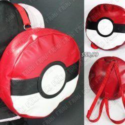 Mochila Videojuegos Pokémon Pokeball Ecuador Comprar Venden, Bonita Apariencia ideal para los fans, practica, Hermoso material de polipropileno Color rojo Estado nuevo