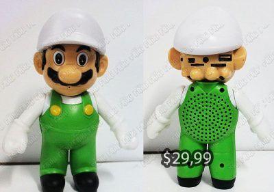 Parlante Videojuegos Super Mario Bros. Luigi Ecuador Comprar Venden, Bonita Apariencia perfecta para coleccionistas y fans de la serie, practica, Hermoso material de plástico Color como en la imagen Estado nuevo