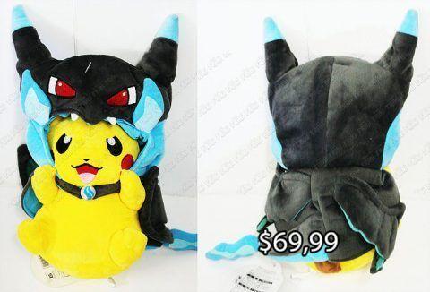 Peluche Videojuegos Pokémon Pikachu disfraz Mega Charizard X Ecuador Comprar Venden, Bonita Apariencia ideal para los fans, practica, Hermoso material de poliéster Color como en la imagen Estado nuevo