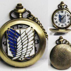 Reloj de collar Anime Shingeki no Kyojin Alas Ecuador Comprar Venden, Bonita Apariencia ideal para los fans, practica, Hermoso material de bronce niquelado Color como en la imagen Estado nuevo