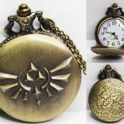 Reloj de collar Videojuegos The Legend of Zelda Cresta Hyliana Ecuador Comprar Venden, Bonita Apariencia ideal para los fans, practica, Hermoso material de bronce niquelado Color dorado Estado nuevo