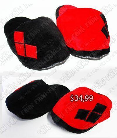 Pantuflas Videojuegos Harley Quinn Ecuador Comprar Venden, Bonita Apariencia, cómodas, practica, Hermoso material de poliéster Color rojo y negro Estado nuevo