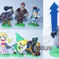 Set figuras Videojuegos The Legend of Zelda Wind Waker Ecuador Comprar Venden, Bonita Apariencia ideal para los fans, practica, Hermoso material plástico Color como en la imagen Estado nuevo
