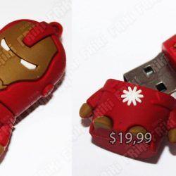 USB Cómics Ironman Ecuador Comprar Venden, Bonita Apariencia perfecto para trabajos, practica, Hermoso material de plástico Color rojo y amarillo Estado nuevo