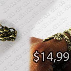 Anillo Varios Dragón dorado Ecuador Comprar Venden, Bonita Apariencia ideal para los fans, practica, Hermoso material de bronce niquelado Color dorado Estado nuevo