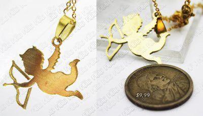 Collar Varios Cupido Dorado Ecuador Comprar Venden, Bonita Apariencia perfecta para lucir, practica, Hermoso material de bronce niquelado Color como en la imagen Estado nuevo