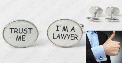 Gemelos Varios Trust Me I'm a Lawyer Ecuador Comprar Venden, Bonita Apariencia ideal para lucirlo, practica, Hermoso material de bronce niquelado Color como en la imagen Estado nuevo
